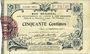 Banknoten Aisne et  Ardennes - Bon régional, Laon, billet, 50 cmes 19.9.1915, 6e série
