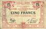 Banknoten Aniche (59). Commune. Billet. 5 francs 1916, série 3