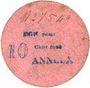 Banknoten Anneux (59). Mairie. Billet. 10 cent