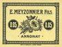 Banknoten Annonay (07). E. Meyzonnier Fils. Billet. 5 cmes