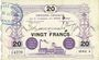 Banknoten Anzin (59). Compagnie des Mines. Billet. 20 francs 1915, série 4