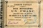 Banknoten Appilly (60). Commune. Billet. 1 franc 4.8.1914