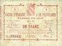 Banknoten Avesnes (59). Caisse d'Epargne et Prévoyance. Billet. 1 franc, série 1