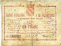 Banknoten Avesnes (59). Caisse d'Epargne et Prévoyance. Billet. 1 franc, série 2