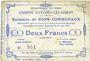 Banknoten Avesnes-les-Aubert (59). Commune. Billet. 2 francs 31.8.1915