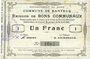 Banknoten Banteux (59). Commune. Billet. 1 franc 22.8.1915