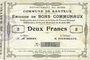 Banknoten Banteux (59). Commune. Billet. 2 francs 22.8.1915