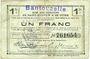 Banknoten Bantouzelle (59). Commune. Billet. S.Q.G., 1 franc 8.8.1916