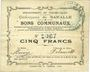 Banknoten Baralle (62). Commune. Billet. 5 francs 26.2.1915
