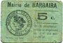 Banknoten Barbaira (11). Mairie. Billet. 5 cmes