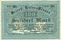 Banknoten Bas-Rhin (67). Bezirk Unter-Elsass. Billet. 100 mark Strasbourg, 25.10.1918