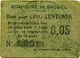Banknoten Basuel (59). Commune. Billet. 5 cmes