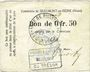 Banknoten Beaumont-en-Beine (02). Commune. Billet. 50 cmes n. d.