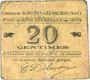 Banknoten Beuvry-Les-Orchies (59). Commune. Billet. 20 cmes 1915