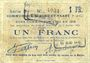 Banknoten Biache-Saint-Waast (62). Commune. Billet. 1 franc 5.1.1915, série B