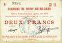 Banknoten Boiry-Notre-Dame (62). Commune. Billet. 2 francs 31.1.1915