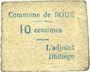 Banknoten Boué (02). Commune. Billet. 10 centimes