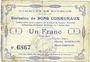 Banknoten Bourlon (62). Commune. Billet. 1 franc 7.7.1915