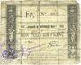 Banknoten Bouvignies (59). Commune. Bon pour 1 franc 1914