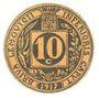 Banknoten Brive (19). Union Commerciale. Billet. 10 cmes 1917