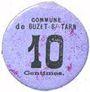 Banknoten Buzet-sur-Tarn (31). Commune. Billet. 10 centimes