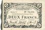 Banknoten Cambrai (59). Syndicat de Communes de la Région de Cambrai. Billet. 2 francs 10.5.1916, série C