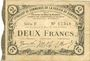 Banknoten Cambrai (59). Syndicat de Communes de la Région de Cambrai. Billet. 2 francs 10.5.1916, série F