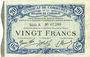 Banknoten Cambrai (59). Syndicat de Communes de la Région de Cambrai. Billet. 20 francs 10.5.1916, série A