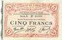 Banknoten Cambrai (59). Syndicat de Communes de la Région de Cambrai. Billet. 5 francs 10.5.1916, série A