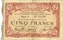 Banknoten Cambrai (59). Syndicat de Communes de la Région de Cambrai. Billet. 5 francs 10.5.1916, série J