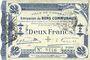Banknoten Cambrai (59). Ville. Billet. 2 francs 30.10.1914, 2e série : 2,5 mm