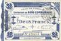 Banknoten Cambrai (59). Ville. Billet. 2 francs 30.10.1914, impression bleu foncé