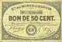 Banknoten Carvin (62). Compagnie des Mines de Carvin. Billet. 50 cmes