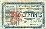 Banknoten Carvin (62). Ville. Billet. 50 cmes 15.1.1915, série C