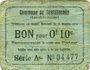 Banknoten Castillonnès (47). Commune. Billet. 10 cmes 8.10.1916, série A
