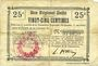 Banknoten Cerisy (02). Mairie. Billet.  B.R.U., 25 cmes
