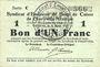 Banknoten Charleville et Mézières (08). Syndicat d'Emission de  Bons de Caisse. 1 franc 11.3.1916, série C