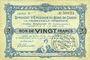 Banknoten Charleville et Mézières (08). Syndicat d'Emission de  Bons de Caisse. 20 francs 11.3.1916, série B