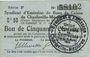 Banknoten Charleville et Mézières (08). Syndicat d'Emission de  Bons de Caisse. 50 cmes 11.3.1916, série F