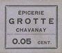Banknoten Chavanay (42). Epicerie Crotte. Billet. 5 cmes, type avec erreur : Grotte