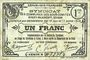 Banknoten Cirey-Blamont, Xures (54). Syndicat des Communes des sous-comités. Billet. 1 franc 10.6 et 17.7.1916