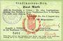 Banknoten Colmar (68). Stadtkassen - Bon. Billet. 2 mark 6.8.1914, cachet d'annulation Entwertet au dos