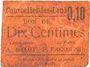 Banknoten Courcelles-les-Lens (62). Ticket-carton. 10 cmes, (non retrouvé)