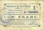 Banknoten Courrières (62). Commune. Billet. 1 franc, émission août 1915