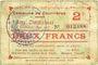 Banknoten Courrières (62). Commune. Billet. 2 francs, émission mai 1915