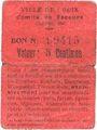 Banknoten Croix (59). Ville. Guerre 1914. Comité de Secours. Billet. 5 centimes