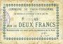 Banknoten Croix-Fonsomme (02). Commune. Billet. 2 francs 14.5.1915. N° 45 !