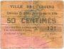 Banknoten Cysoing (59). Ville. Billet. 50 centimes n. d. N° 131 !