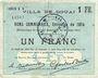 Banknoten Douai (59). Ville. Billet. 1 franc 30.8.1914, série B6