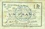 Banknoten Douai (59). Ville. Billet. 1 franc 30.8 et 15.10.1914, nlle série, B1
